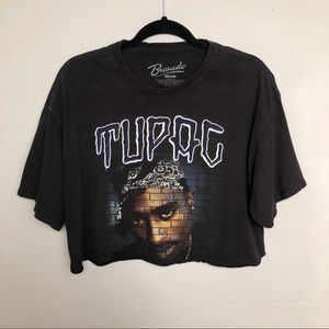 Bravado Tupac Concert Graphic Cropped Boho Tee XL